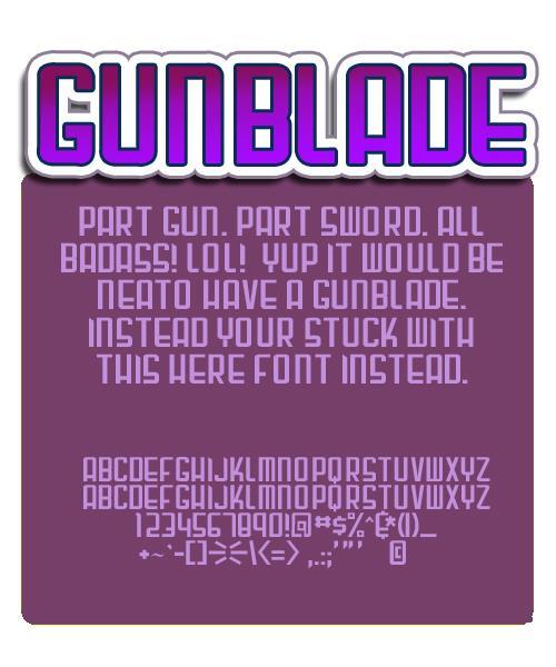Image for Gunblade font