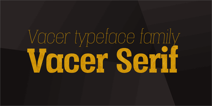 Image for Vacer Serif Personal font