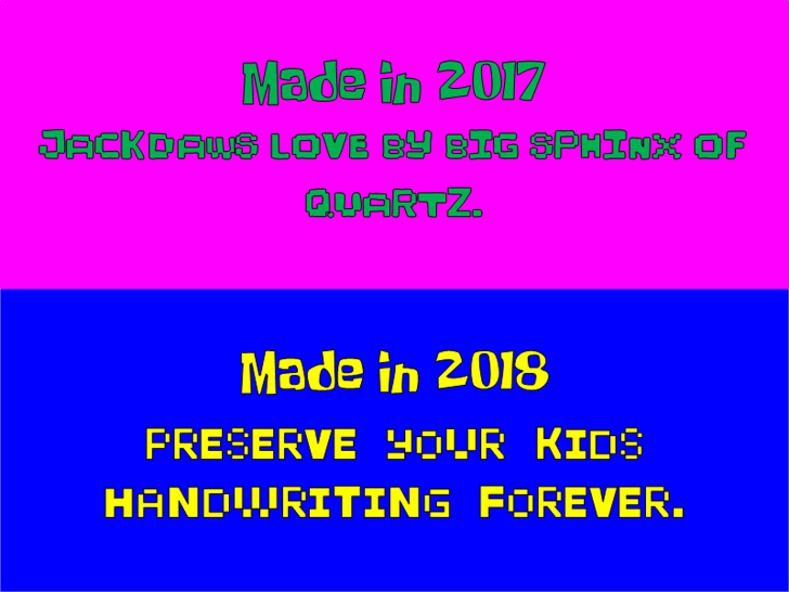 KidPixies New font by heaven castro