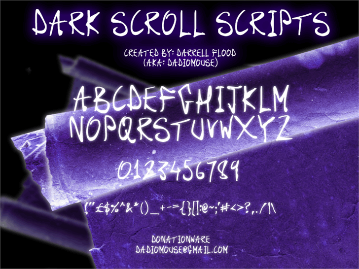 Image for Dark Scroll Scripts font