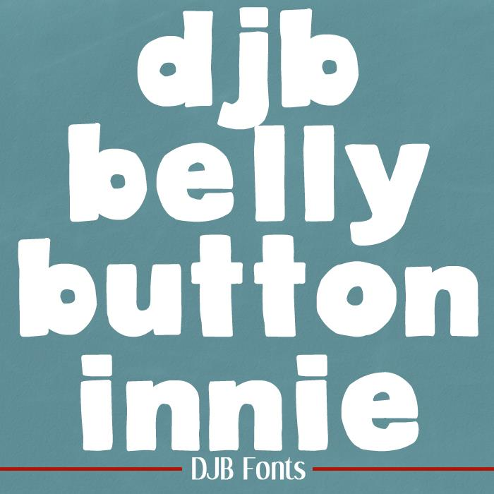 Image for DJB BellyButton-Innie font