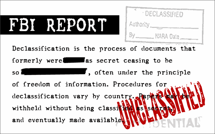 Image for FBI Old Report font