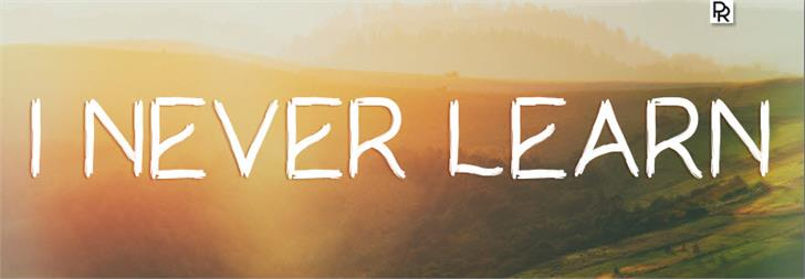 I Never Learn font by Paulo R