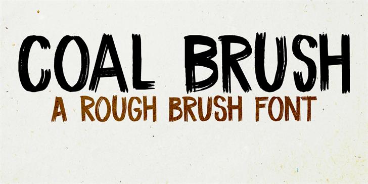 Image for DK Coal Brush font