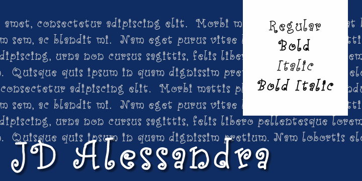 JD Alessandra font by Jecko Development