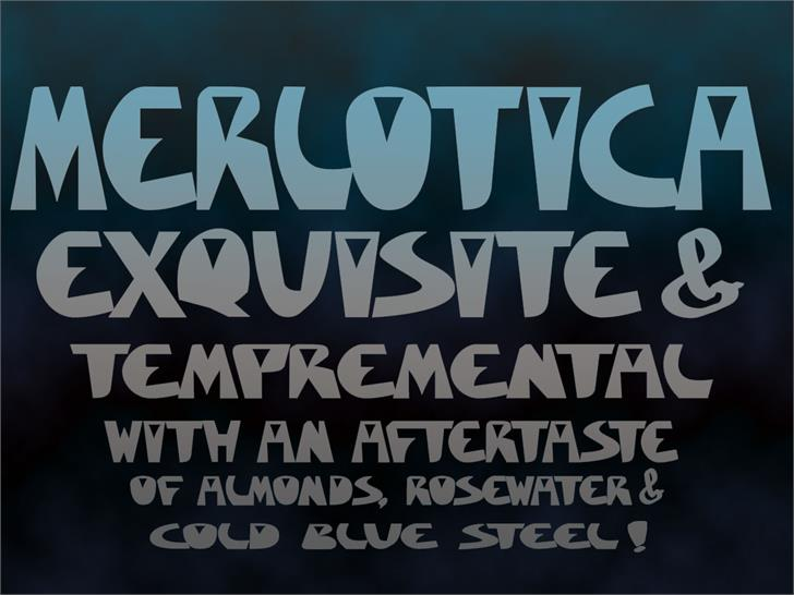 Merlotica Sans font by moonmoth design