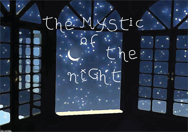Image for The MYStIc of the niGht font