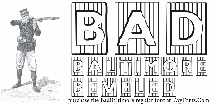 Image for BadBaltimore Beveled font