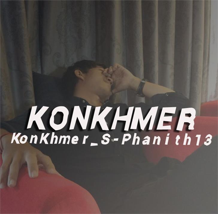 Image for KonKhmer_S-Phanith13 font