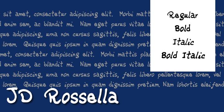 Image for JDRossella font