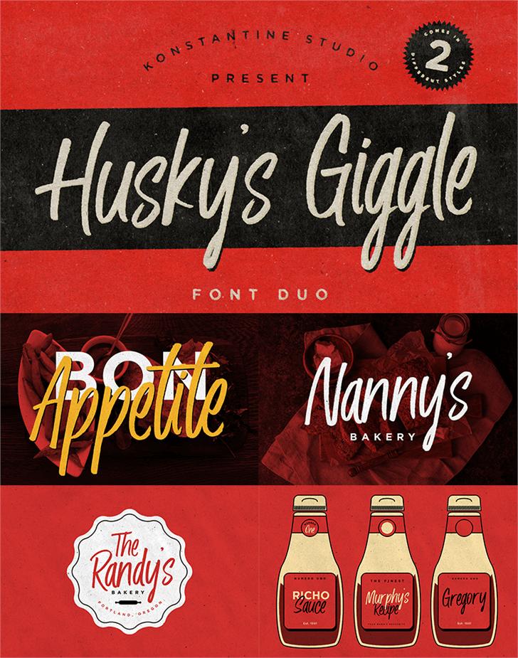 Husky Giggle DEMO font by Konstantine Studio