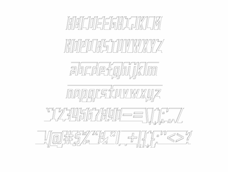 Image for Bad Eyes Wireframe font