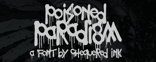 Image for Poisoned Paradigm font