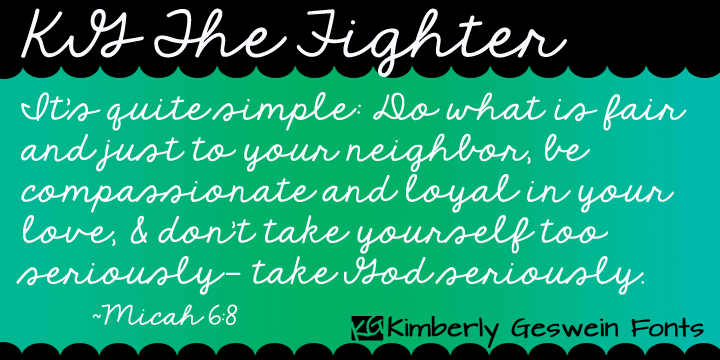 KG The Fighter font by Kimberly Geswein