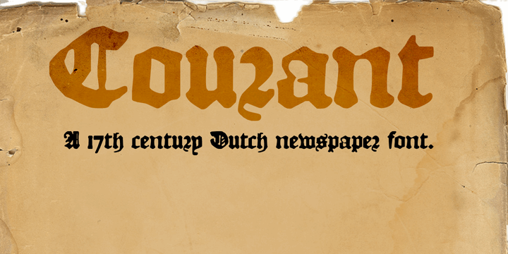 Image for DK Courant font