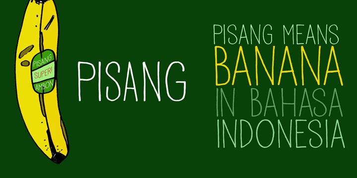 Image for DK Pisang font