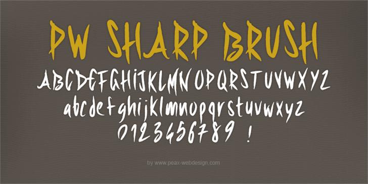 Image for PWSharpBrush font