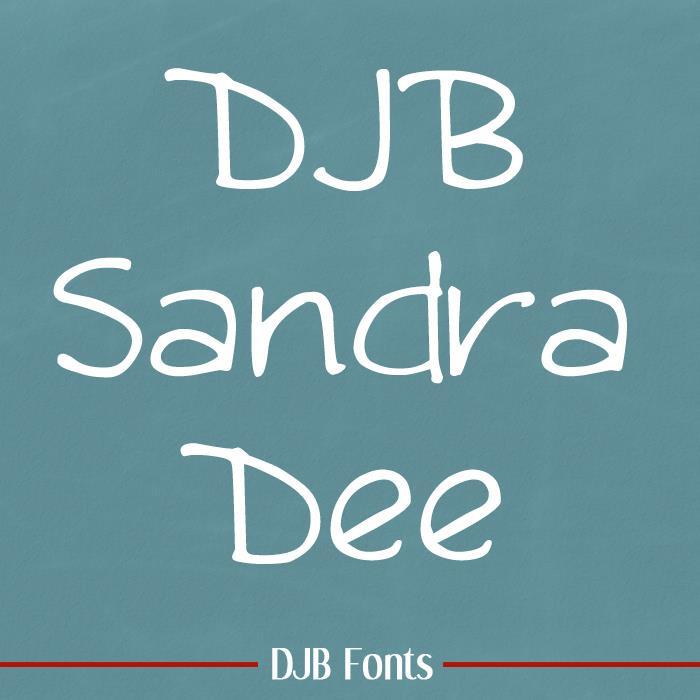 Image for DJB Sandra Dee font
