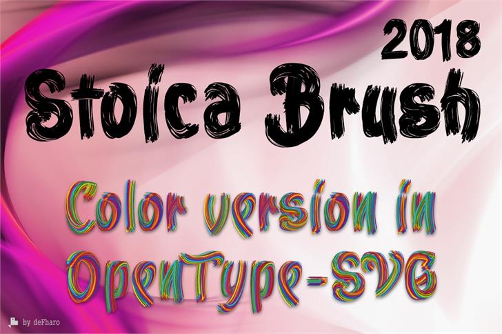 Stoica Brush font by deFharo