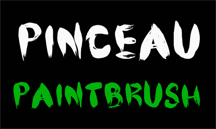 CF Pinceau font by CloutierFontes