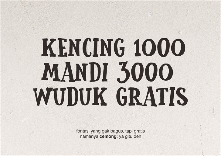 Image for Cemong font