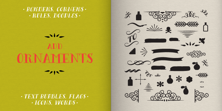 Image for Bergamot Ornaments font