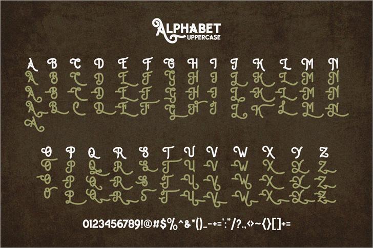 Image for Hipster letter demo font