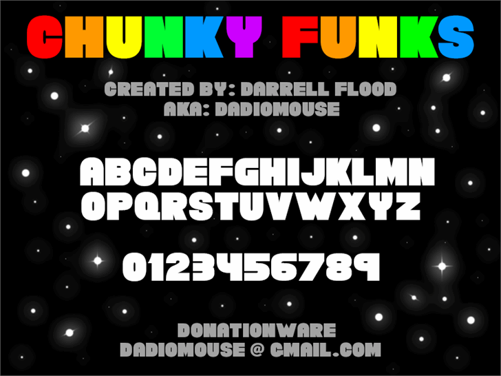 Chunky Funks font by Darrell Flood