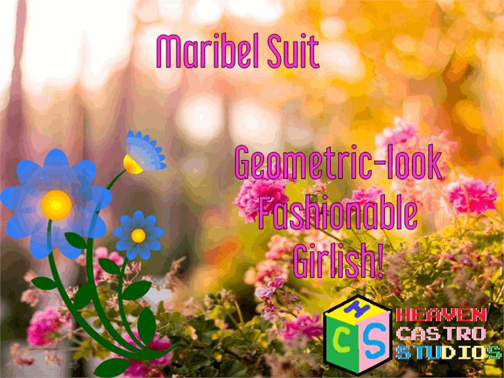 Maribel Suit font by heaven castro