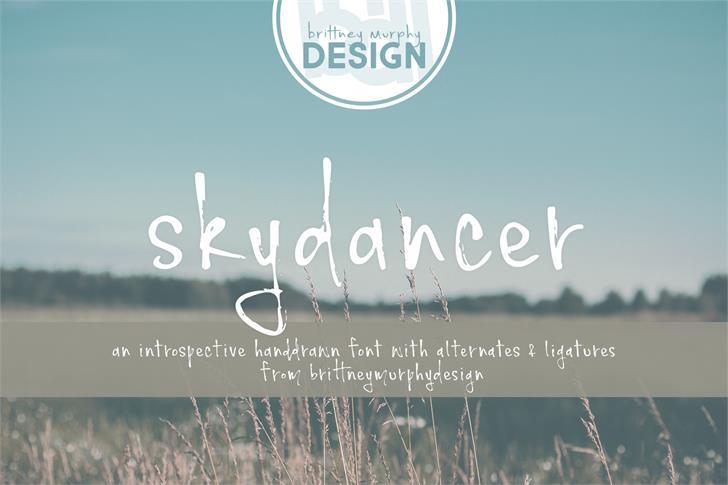 skydancer font by Brittney Murphy Design