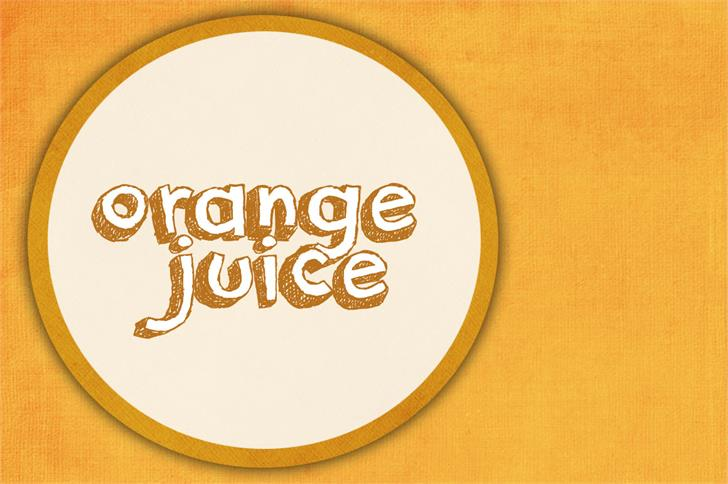 Image for orange juice font