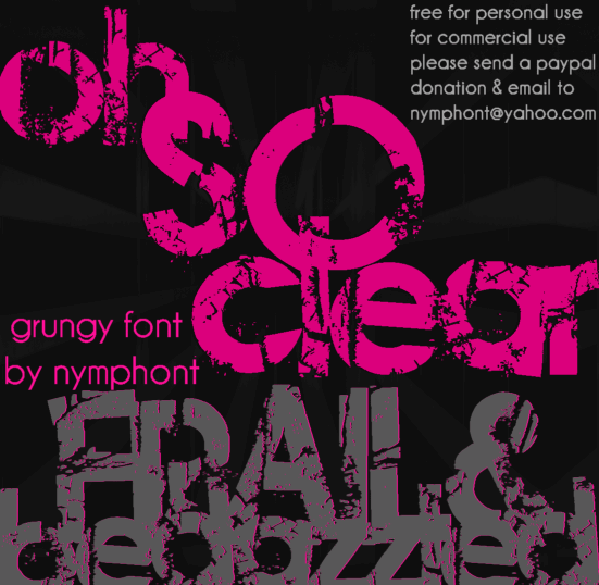Image for Frail & Bedazzled font