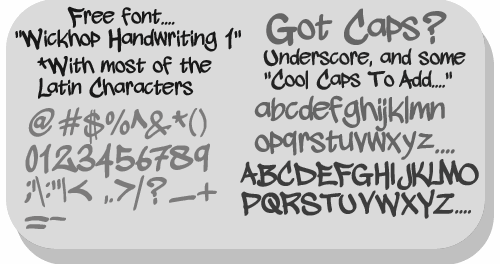 Image for wickhop handwriting font