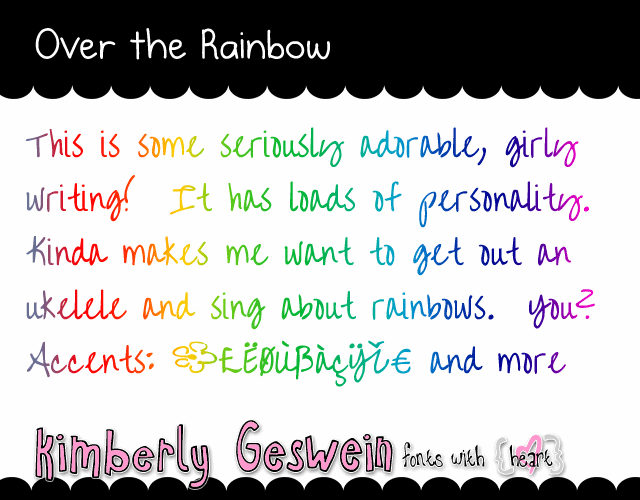 Image for Over the Rainbow font