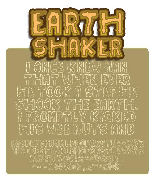 Earthshaker font by Press Gang Studios