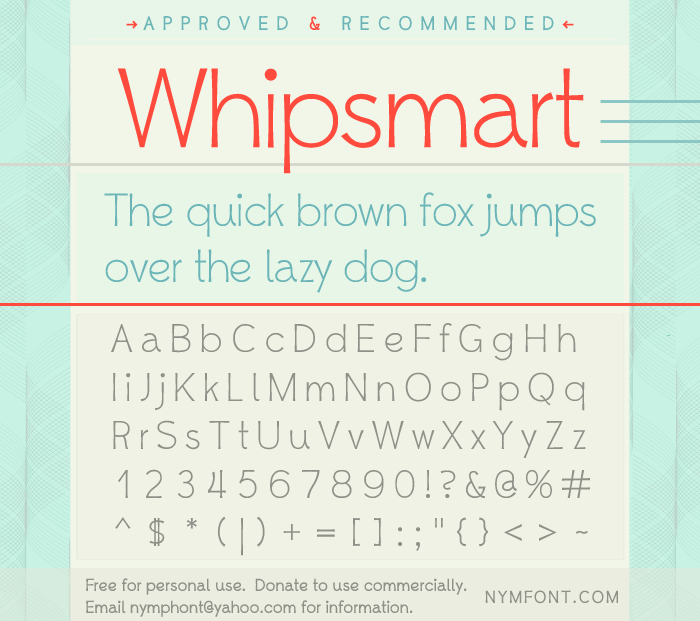 Whipsmart font by Nymphont