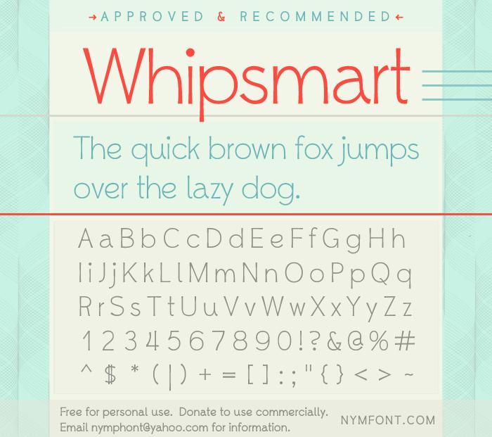 Image for Whipsmart font