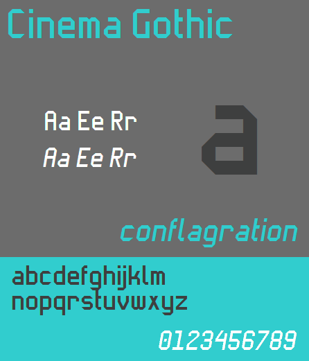Image for Cinema Gothic NBP font