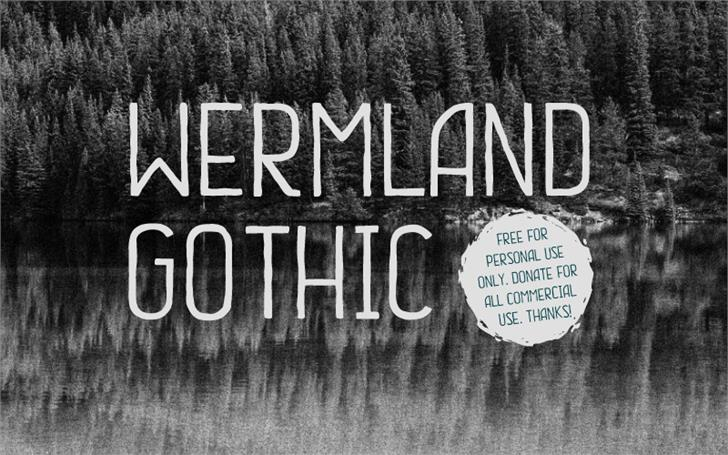 Image for Wermland Gothic font