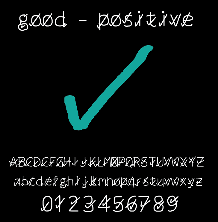 Image for good positive font