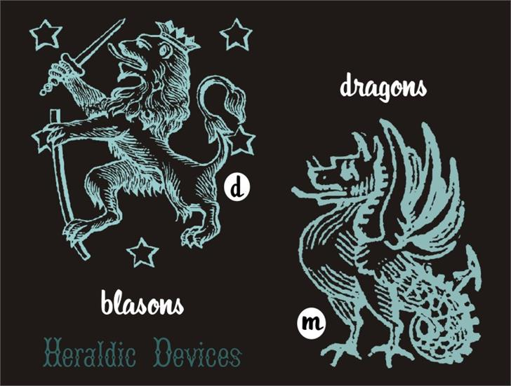 HeraldicDevices font by Intellecta Design