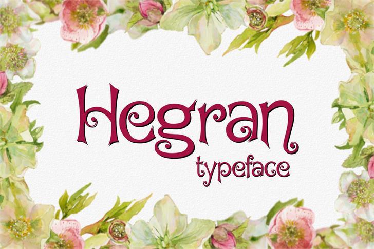Image for Hegran font
