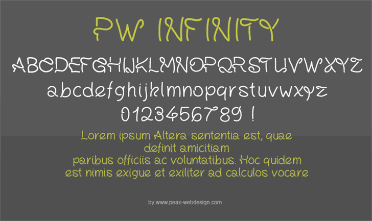Image for PWInfinity font