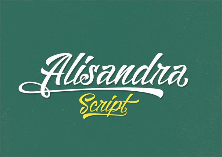 Image for Alisandra Demo font
