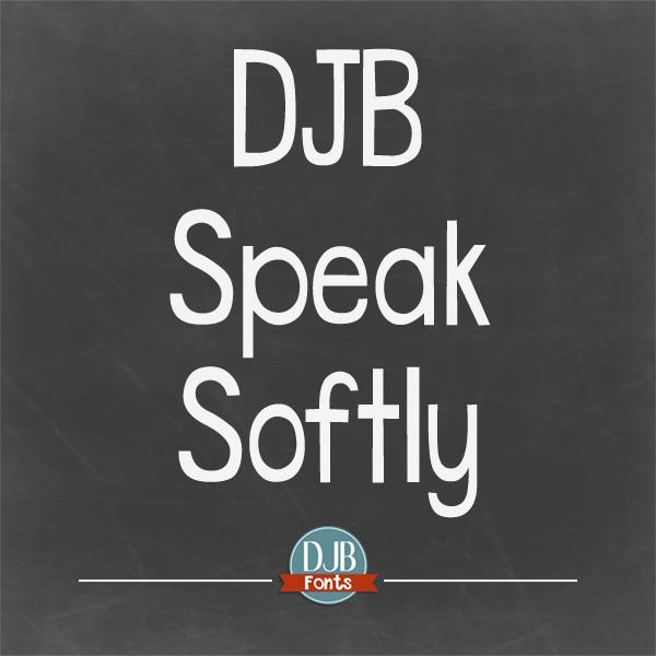 DJB Speak Softly font by Darcy Baldwin Fonts