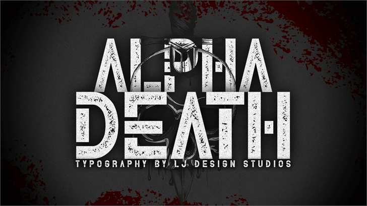 Alpha Death Personal Use font by LJ Design Studios