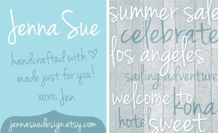 Image for Jenna Sue font