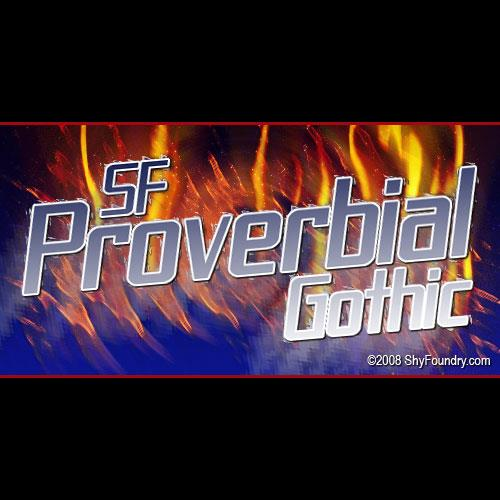 Image for SF Proverbial Gothic font