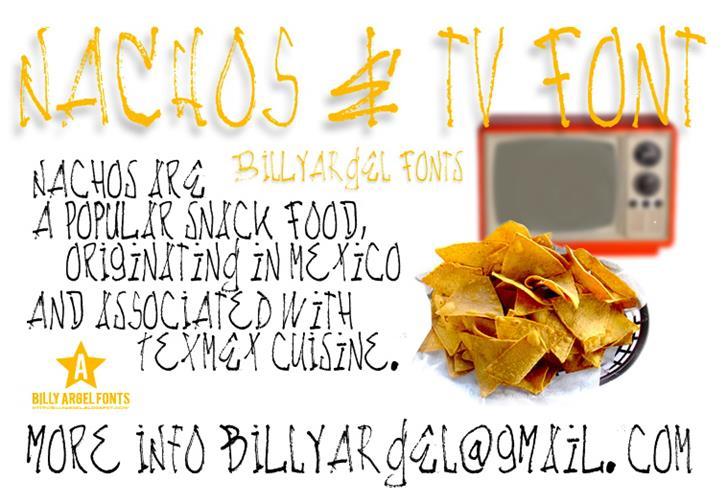 Image for NACHOS & TV font