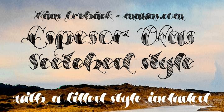 Image for Espesor Olas Half font
